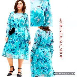 JUNAROSE floral sheer dress